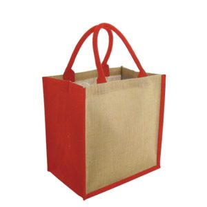 Green & Good Brighton Jute Bag-red