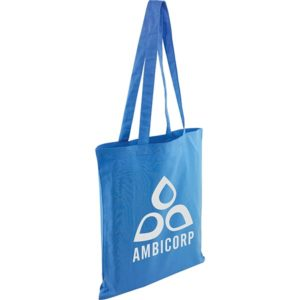 Kingsbridge Coloured 5oz Cotton Tote Bag-blue