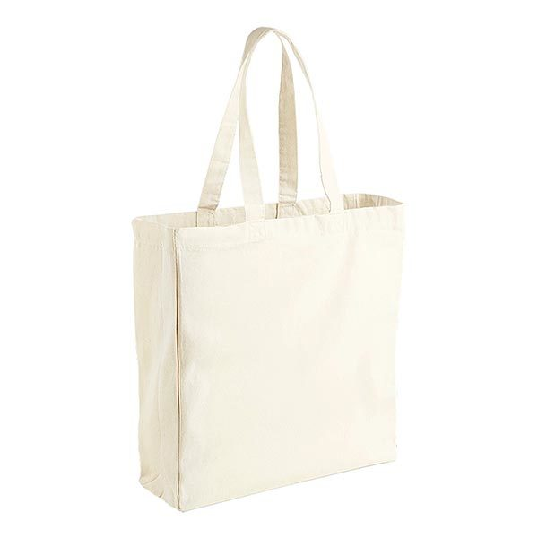 Natural 10oz Canvas Cotton Shopper
