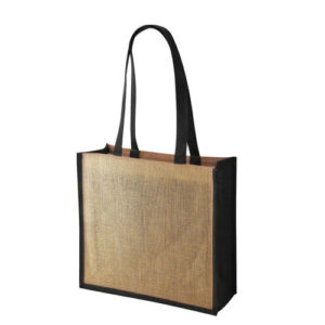 Simba Coloured Trim Jute Bag