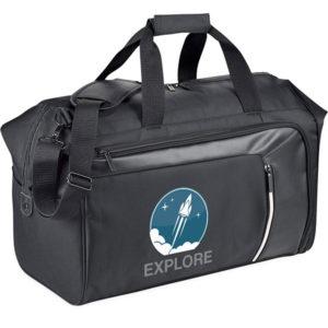 Printed Vault RFID travel duffel bag