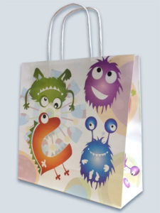 Sustainable, recycled kraft paper bag