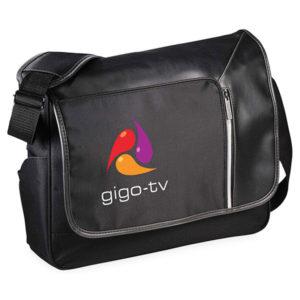 Printed, promotional laptop bag
