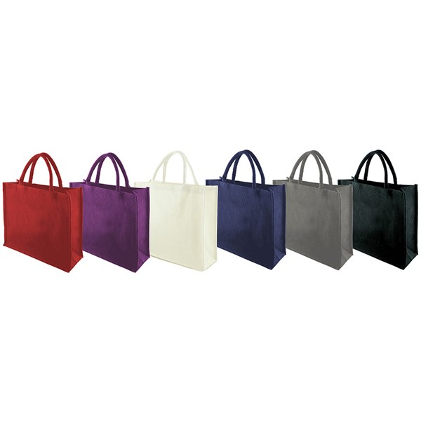 Jute solid coloured bags