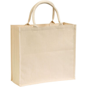 Broomfield 7oz Laminated Cotton Tote Bag – Natural, Stupid Tuesday's Bag Store