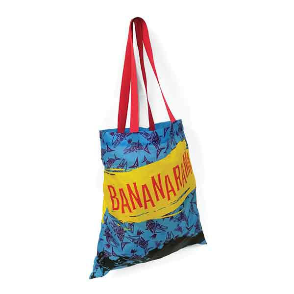 All-over branding on a shopping bags