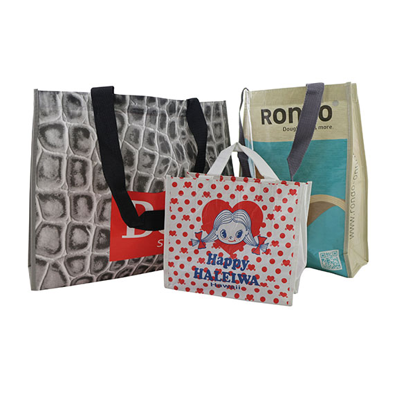 Printed tote bags made from rPET